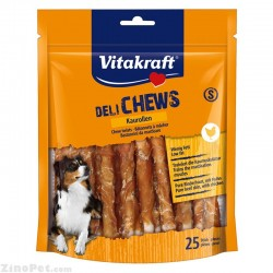 تشویقی سگ رولی کوچک گوشت خالص مرغ با پوست گاو 25 رول ویتاکرافت