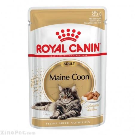غذای تر (پوچ) گربه نژاد مین کون بزرگسال - ادالت رویال کنین