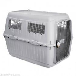باکس حمل مسافرتی دارای محفظه هوا و درب فلزی سگ یو اس پت