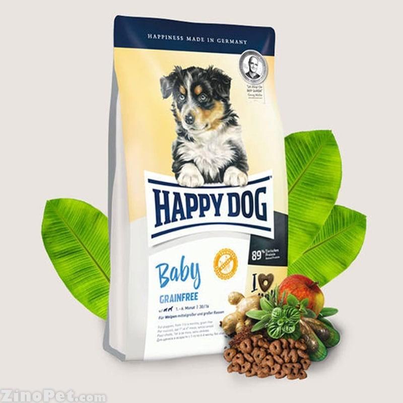 غذای خشک توله سگ نژاد کوچک حساس هپی داگ