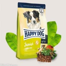 غذای خشک سگ جوان محتوی بره و برنج هپی داگ