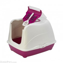 توالت مسقف گربه با درب تاشو و بیلچه مدل فیلپ کت مدرنا