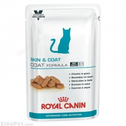 پوچ  گربه برای کاهش ریزش مو و حساسیت پوستی رویال کنین