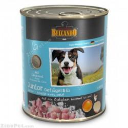 غذای کنسروی سگ با طعم گوشت طیور و تخم مرغ بلکاندو