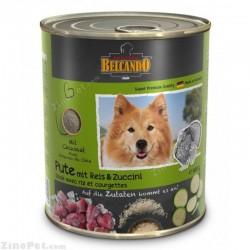 غذای کنسروی سگ با طعم بو قلمون با برنج و کدو سبز بلکاندو