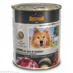 غذای کنسروی سگ با طعم گوشت بره و برنج با گوجه بلکاندو