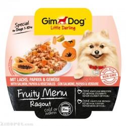 غذای تر سگ جیم داگ راگو ماهی سالمون، انبه هندی و سبزیجات