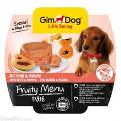 غذای مرطوب سگ جیم داگ تقویتی بیف و انبه هندی