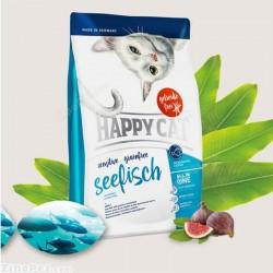 غذای خشک گربه حساس با طعم ماهی هپی کت