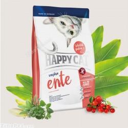 غذای خشک گربه حساس با طعم اردک هپی کت