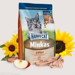 غذای خشک گربه مینکاس حاوی گوشت مرغ هپی کت