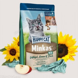 غذای خشک گربه مینکاس مخلوط هپی کت