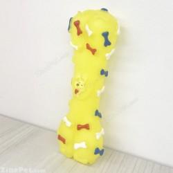 اسباب بازی سگ استخوانی جویدنی پلاستیکی صدا دار لیمویی