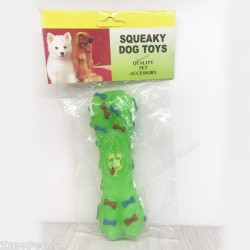 اسباب بازی سگ استخوانی جویدنی پلاستیکی صدا دار سبز