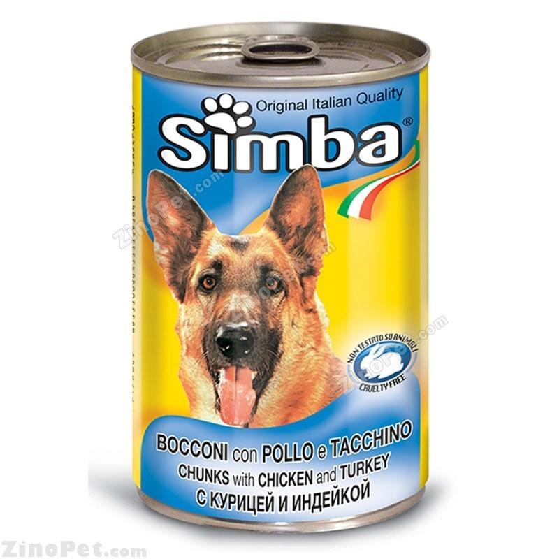 کنسرو سگ سیمبا با طعم مرغ و بوقلمون