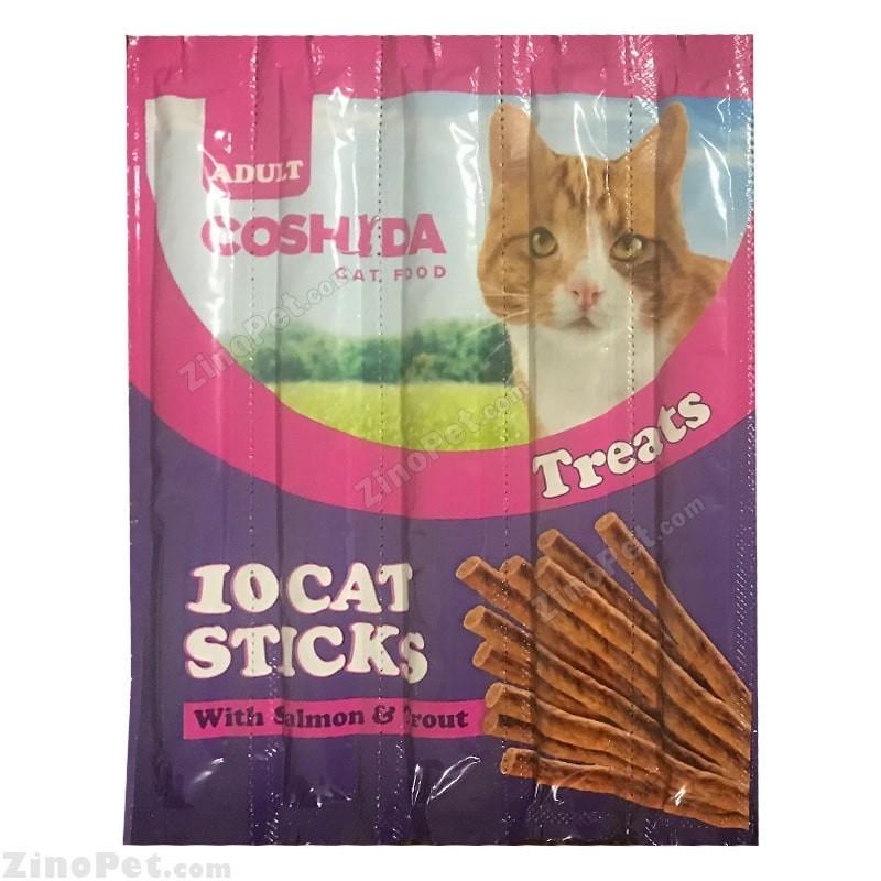 اسنک مدادی گربه کوشیدا با طعم ماهی سالمون و قزل آلا